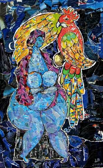 Woman & Parrot 2